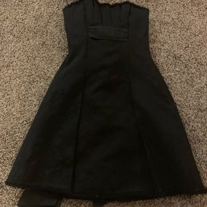Strapless black cocktail dress size 0